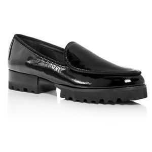 Donald Pliner Elen Patent Leather Platform Loafers